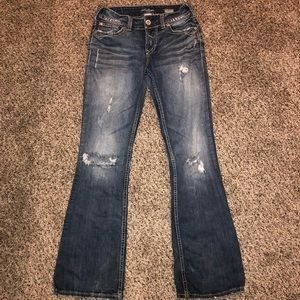 Distressed Silver Brand Women's Jeans